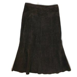 Heart Moon Star Leather Suede Skirt Size 10